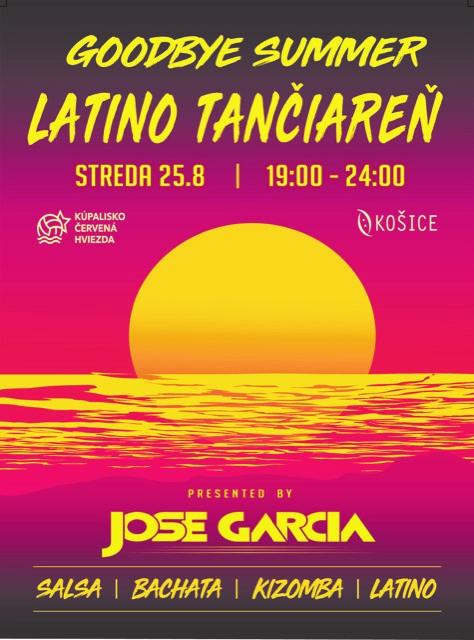 Všetkých Vás pozývame na poslednú letnú Latino Tančiareň na kúpalisku Červená hviezda